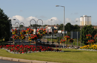 general view loking towards East Kilbride town centre