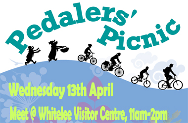 Whitelee event poster for Pedalers' picnic