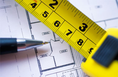 Plans and a measuring tape