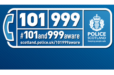 Police Scotland banner with phone numbers