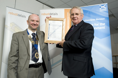 Alan McAulay with Mike Freshney Chairman of Robust Details Ltd at this week's launch event.
