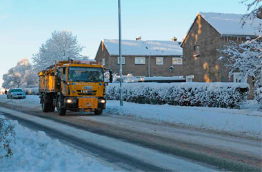 gritter out on road