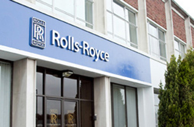 entrance to Rolls-Royce building in East Kilbride