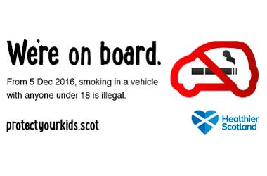 From Monday 5 December 2016, smoking in a vehicle with anyone under 18 will be against the law.