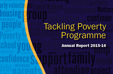 front cover of Tackling-poverty report 15-16