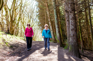 Walkers at Chatelherault Country Park. Copyright Archibald Photography Ltd