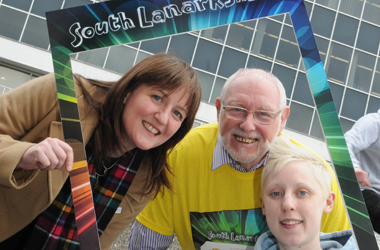 Pic: (l-r) Scottish Government Minister for Childcare and Early Years Maree Todd; South Lanarkshire Council Leader Councillor John Ross and Communic18 Ambassador Rachael McCully at the launch of the Year of Young People 2018 in South Lanarkshire