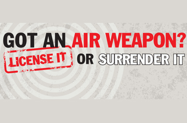 air weapon surrender campaign poster