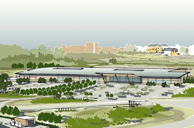 artists impression of planned £10million garden centre complex in East Kilbride