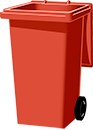red bin