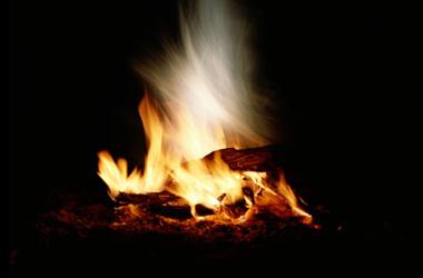 image of blazing bonfire