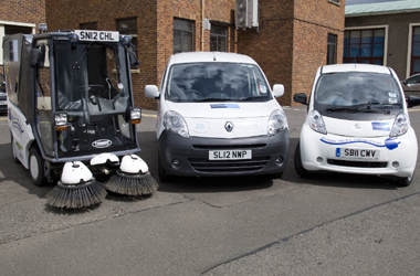 three different electric vehicles