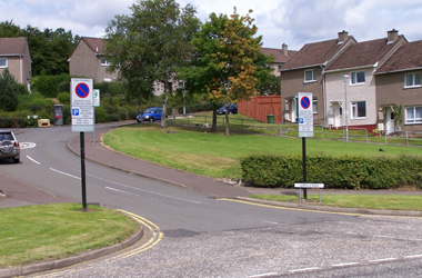 parking permit signs in East Kilbride area