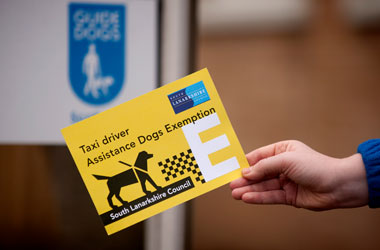 new tactile certificate for taxi drivers with medical exemption from carrying guide dogs