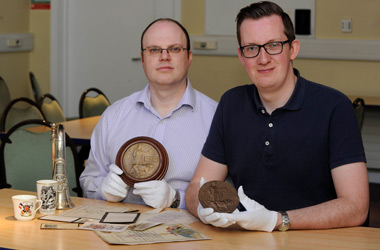 SLLC's Barrie Duncan and Michael Allan of Access NL are curators for the Lanarkshire's War exhibition