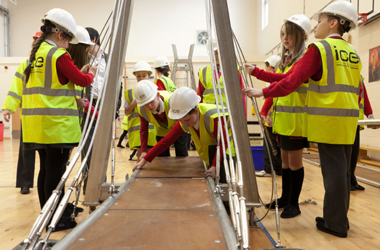 st blanes pupils involved in Bridges to Schools scheme