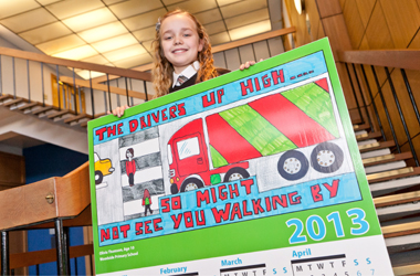 winner of 2013 road safety calendar competition