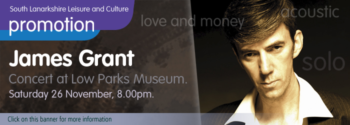 James Grant in concert at Low Parks Museum