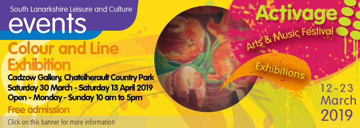 Colour and Line exhibition, East Kilbride Arts Centre