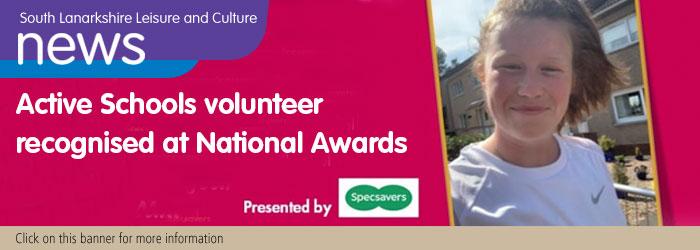 Active Schools Volunteer Recognised at National Awards Slider image