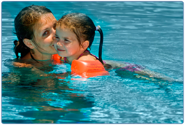 Adult and child swimming lessons at South Lanarkshire Leisure and Culture