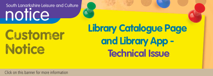 Library Catalogue Page and Library App - Technical Issue