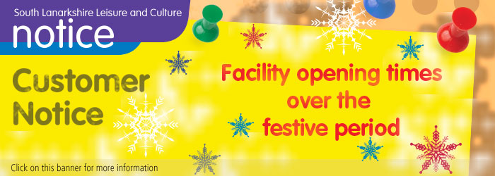 Facility Opening Times over the Festive Period 2019/20