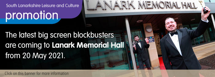 Latest blockbusters coming to Lanark Memorial Hall Slider image