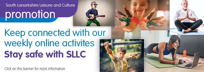 Timetable of online activities with South Lanarkshire Leisure and Culture Slider image