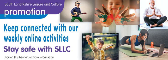 Online activities from South Lanarkshire Leisure and Culture, for children, youth,adults and seniors. Slider image