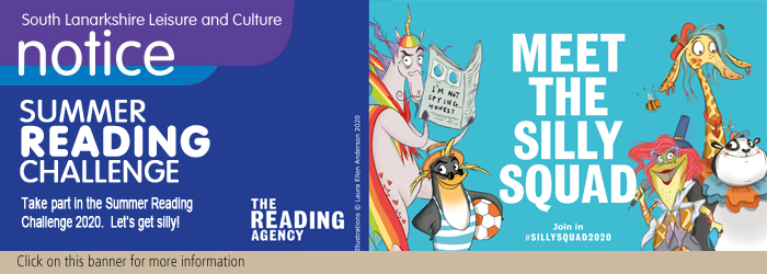 Link to Summer Reading Challenge: Meet the Silly Squad web page Slider image