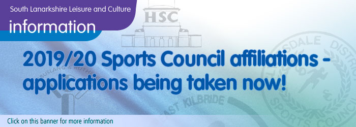South Lanarkshire Sports Council Affiliations 2019-2020 Slider image