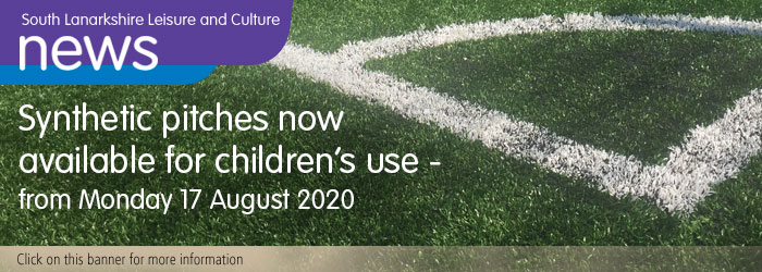 Outdoor synthetic pitches will soon be available for children to use across South Lanarkshire Slider image