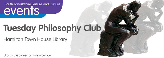 Tuesday Philosophy Club at Hamilton Town House Library Slider image