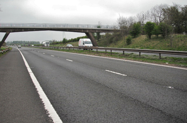 M74 motorway at junction 8