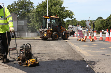 road closed for resurfacing