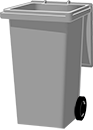 grey bin