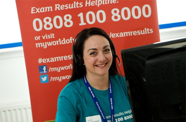 Skills Development Scotland's Jen Whelan at the Exam Results Helpline