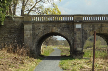 restored 1.3km of pathway goes under the iconic Mauldslie Bridge - Clyde and Avon Valley Landscape Partnership