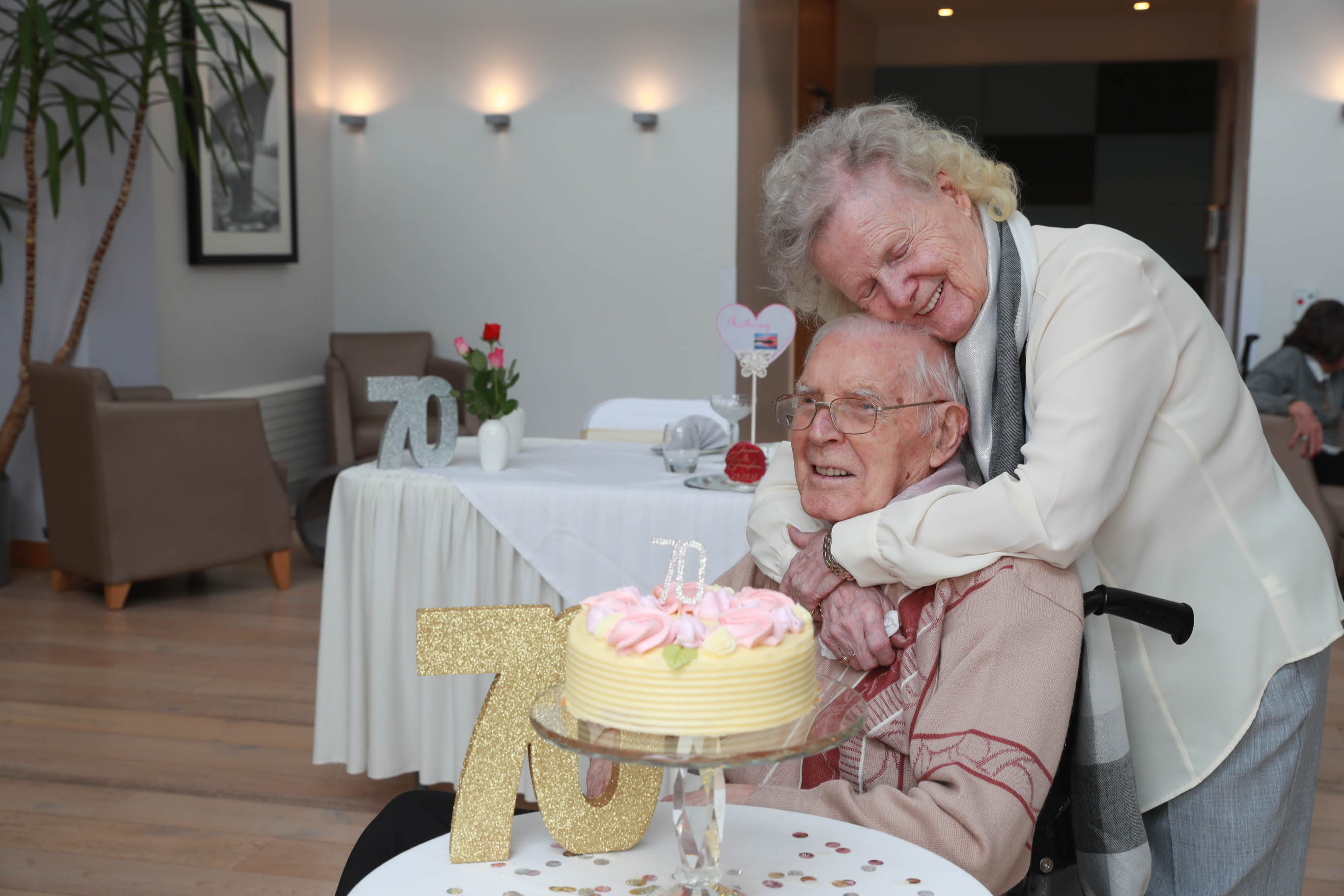 SLC Care home's platinum pair reflect on 70 years of love and happiness