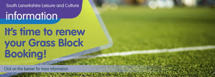 Renew your grass block booking with South Lanarkshire Leisure and Culture