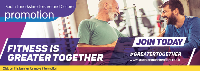 Fitness is greater together fitness membership with South Lanarkshire Leisure and Culture Slider image